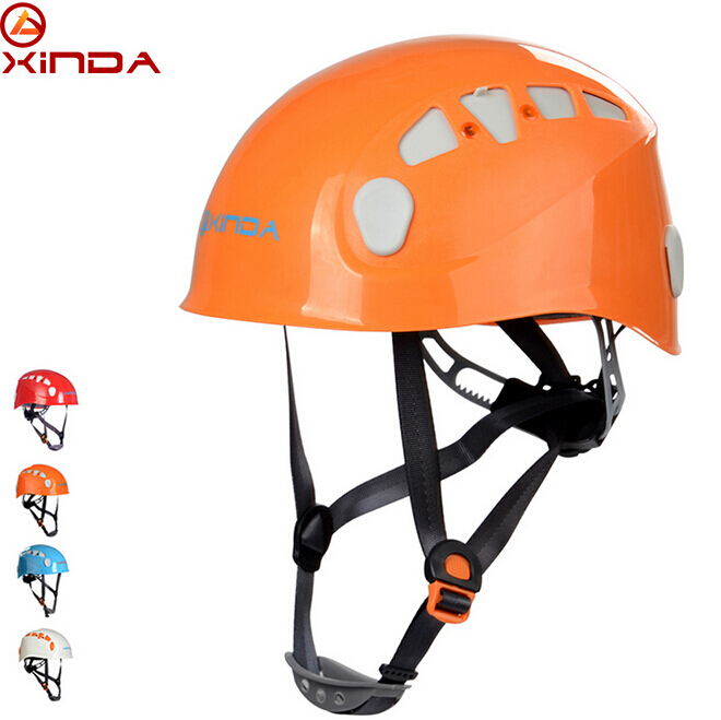 XINDA Professional Mountaineer Rock Climbing Helmet Mountaineering Safety Caving Rescue Wading Riding Downhill Hiking Helmet xinda professional handle pulley roller gear outdoor rock climbing tyrolean traverse crossing weight carriage device