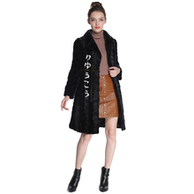 Mink Fur Coat Female Real fox fur coat Natural Coats mink onorable waistcoat 100CM Japan style Womens Genuine  Coat Ship by DHL