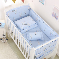 Five Pieces Baby Bedding Sets Crib Bumpers Bed Around Cot Bed Sheets Cotton Thickening Baby Bedings Bed Bumper Baby Room Decor