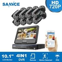 SANNCE HD 1080N 8CH DVR 720P IR CCTV Cameras Home Surveillance Security System