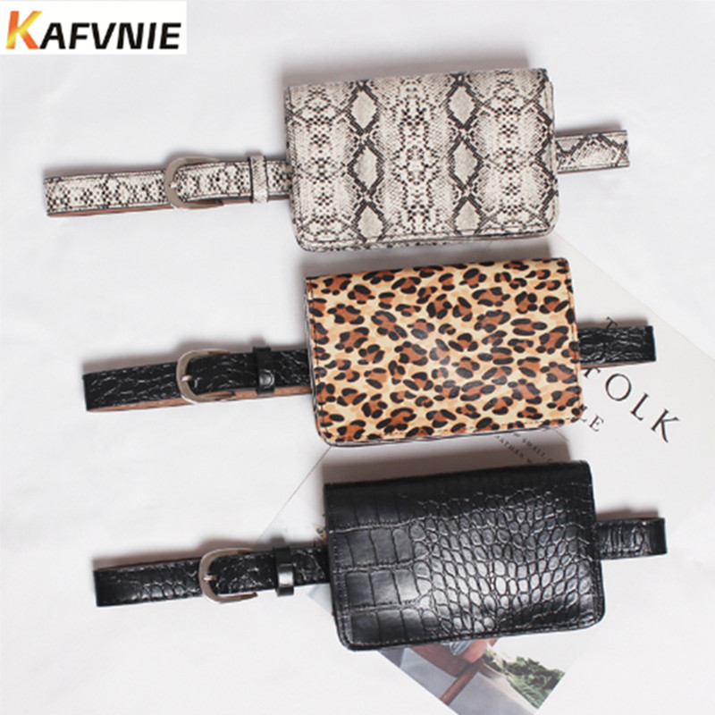 Fashion Belt Bags Leopard Women Waist Bag Travel Waist Pack Wallet PU Leather Waist Pouch Vintage Lady Fanny Pack 3 Color 2019