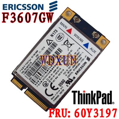 Eircsson desbloqueado F3607GW 60Y3237 LENOVO Thinkpad F3607GW 3 G GPS WWAN cartão HSPA 60Y3197