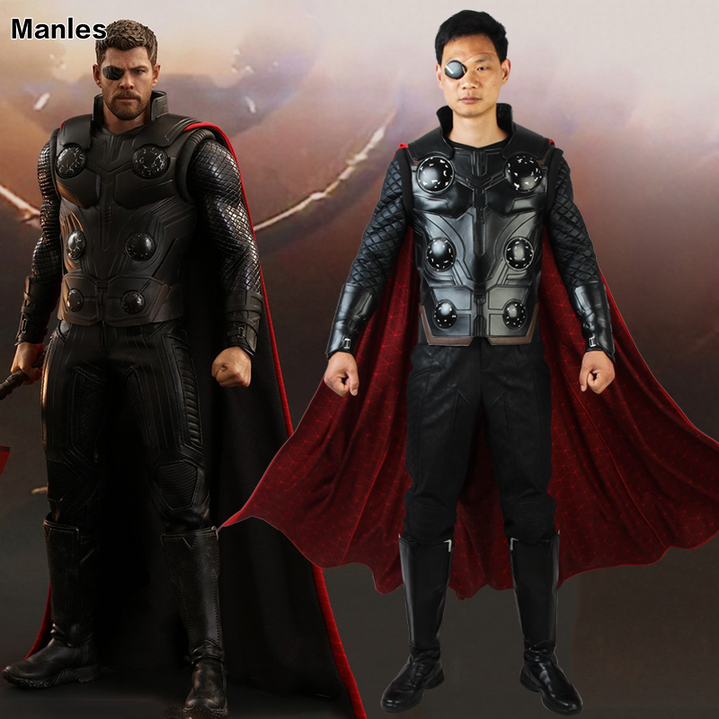 Avengers Infinity War Thor Cosplay Man Costume Superhero Outfit The Avengers 3 Fantasy Clothes Halloween Boots Cloak Adult Men
