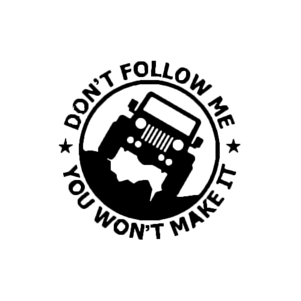 Car-StylingDon't Follow Me Reflective Car Stickers For JEEP Renegade Wrangler Cherokee Compass hochitech single color under car body light led rock light waterproof for jeep wrangler compass cherokee renegade rand cherokee