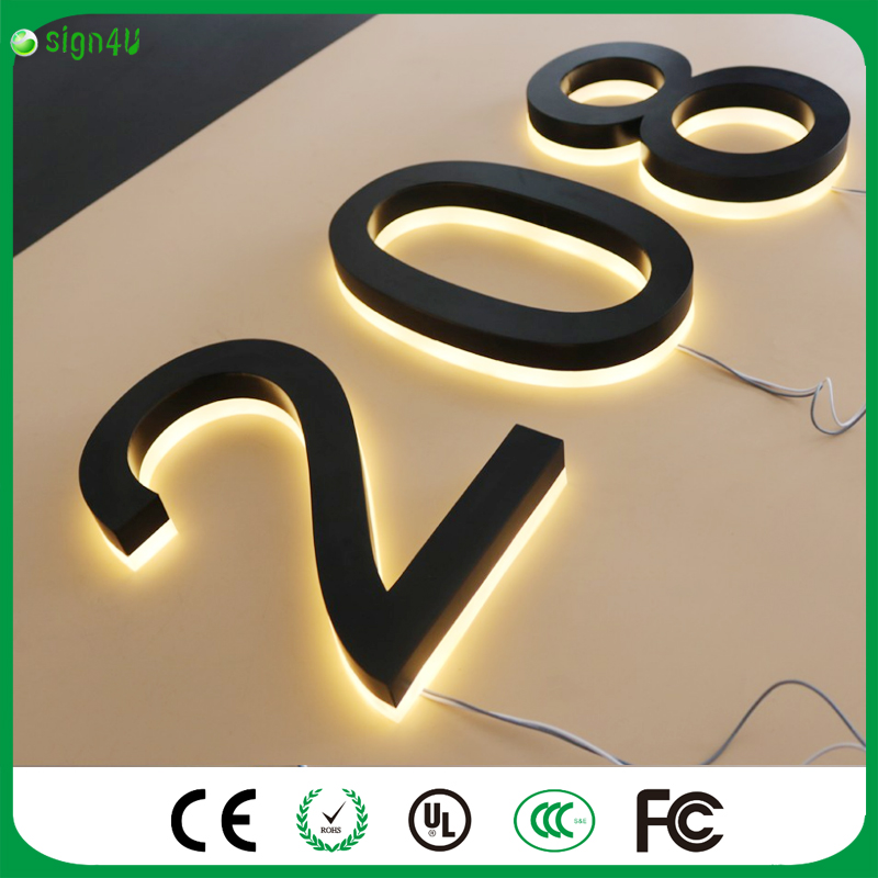 ФОТО Safety Solar Doorplate Number Outdoor Lighting Billboard Light Stainless Steel House Apartment Number Light-Operated Lamp