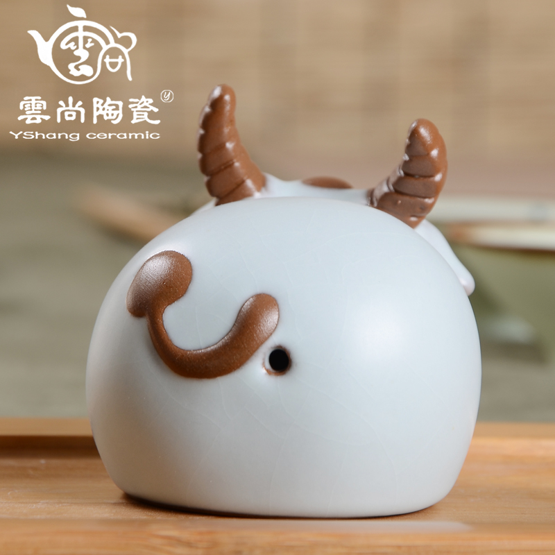 Tea pet cattle rabbit sheep tea pet decoration tea play tea accessories in Figurines Miniatures from Home Garden