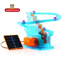 GEEK KING Creative Ball moving solar toys diy children assembled scientific experiments favorite track ball kids