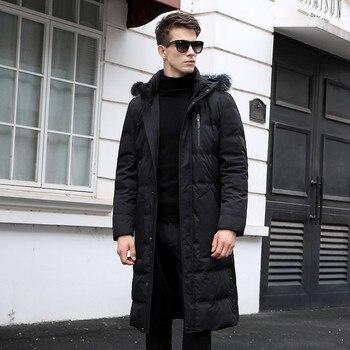 Gänsedaunenjacke | 2019 Winter Männer Lange Stil Hohe Qualität 90% Weiße Ente Unten Jacken Männer, Männer Warme Mantel, Klassische Business Verdicken Unten Jacke