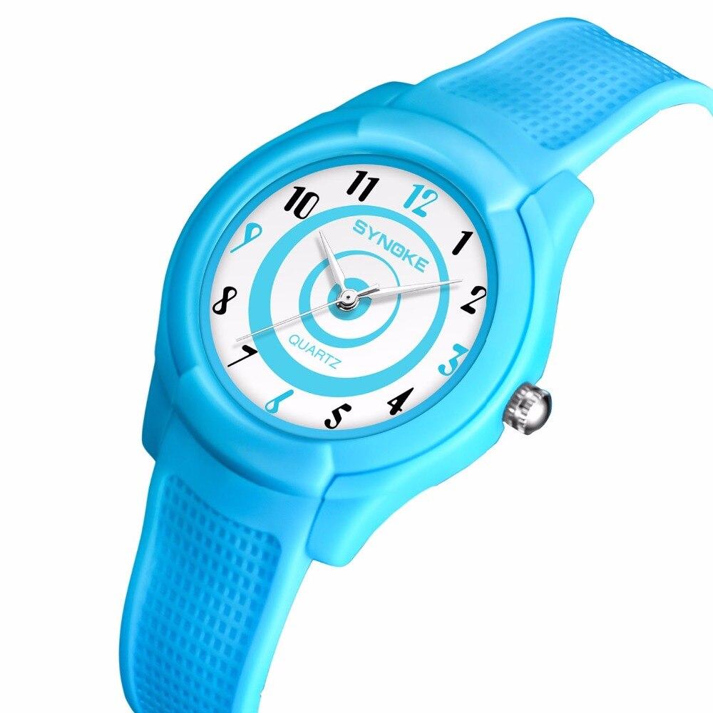 Children Watches Boy Girl Soft Silicone Cartoon Kids Watch Students Quartz Wristwatch 50M Waterproof Clock Ninos Swim Watch+Box