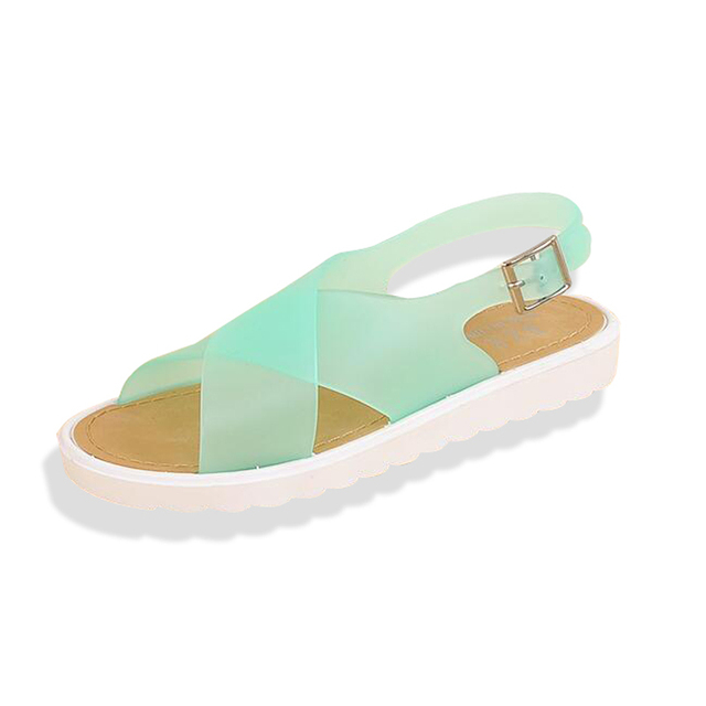 Jelly Sandals Summer Nice New Plastic Beach Shoes Student Anti Slip Fish Mouth
