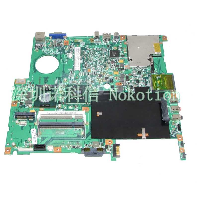 NOKOTION MB.TMW01.001 MBTMW01001 48.4T301.01N for Extensa 5220 5620 Laptop Motherboard Intel 965GM DDR2 55.4T301.131G nokotion sps v000198120 for toshiba satellite a500 a505 motherboard intel gm45 ddr2 6050a2323101 mb a01