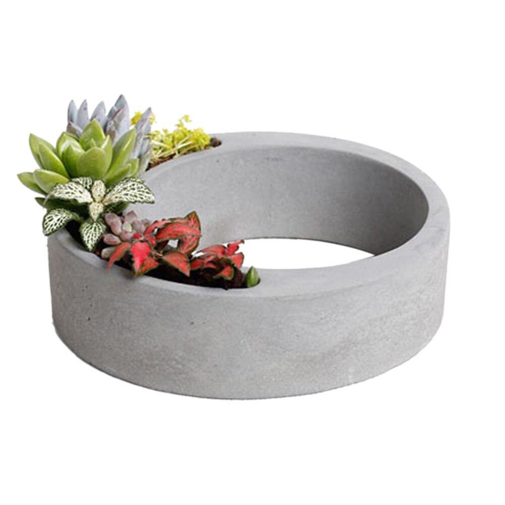 Полый цветочный горшок Силиконовые формы в форме цемента цветочный горшок формы домашний декор бетонный кашпо поддон силиконовая форма