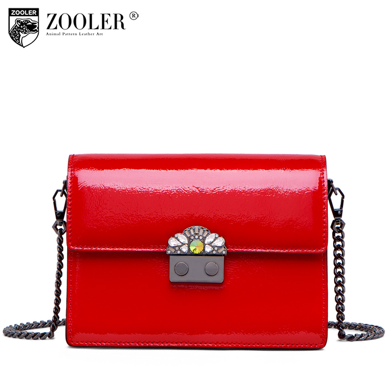 ZOOLER 2018 new genuine leather woman messenger bags royal Fashion Chain shoulder Bags Cross body Bag top quality luxury#Y126