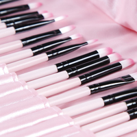 32 Pcs Makeup Brushes Set Wooden Handle Makeup Brushes Set Cosmetics Tool Kit Powder Blush Brushes