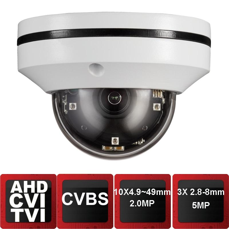 Analog AHD TVI CVI CVBS 5MP Mini IR PTZ Night Vision Zoom Dome Camera Zoom Lens Dome Camera With 10x Optical Zoom Motorized 10x zoom optical camera lens telescope w tripod for iphone 5 black white
