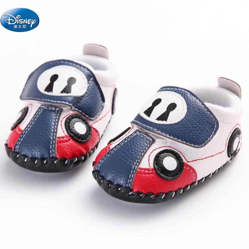 Disney Baby Car Shoes Cute Cartoon  Newborn Soft Casual Shoes