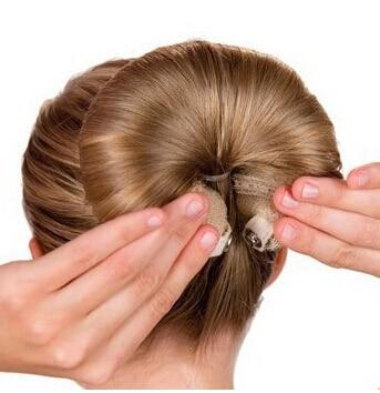 2pcs fashion magic hot buns roll snap wrap hair roller