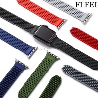 FI FEI Colorful WatchBand For Apple Watch Series 3 2 1 38mm 42mm 42 Mm Breathable