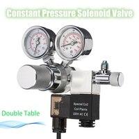 Newest Aquarium Dual Gauge CO2 Regulator Interface Check Valve Bubble Counter Solenoid Valve Water Plant Fish
