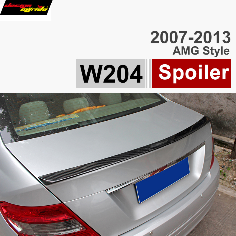 Mercedes W204 Spoiler Carbon Fiber Trunk Spoiler Car Wing for Benz C Class Spoiler W204 C180 C200 C220 C230 C250 C280 C300 C320 w204 c180 c200 c260 c300 carbon fiber car rear trunk lip spoiler wing for mercedes benz w204 c63 4 door 2008 2013 amg style