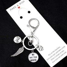 Best Friends No Matter Where Wings Keychains Hand in Pinky Swear Promise Heart Love Key Chain Ring Women Men Jewelry