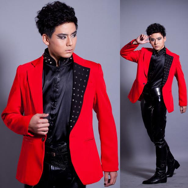 Red Blazer Jacket for Men Promotion-Shop for Promotional Red ...