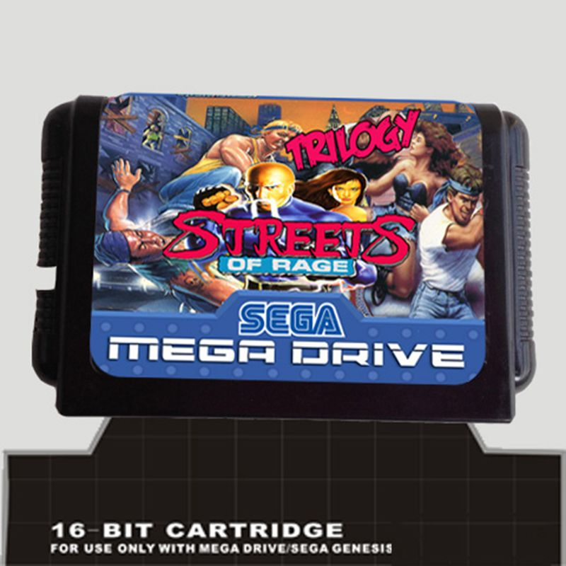 Streets of Rage Trilogy 16 bit MD Game Card For Sega Mega Drive For Genesis