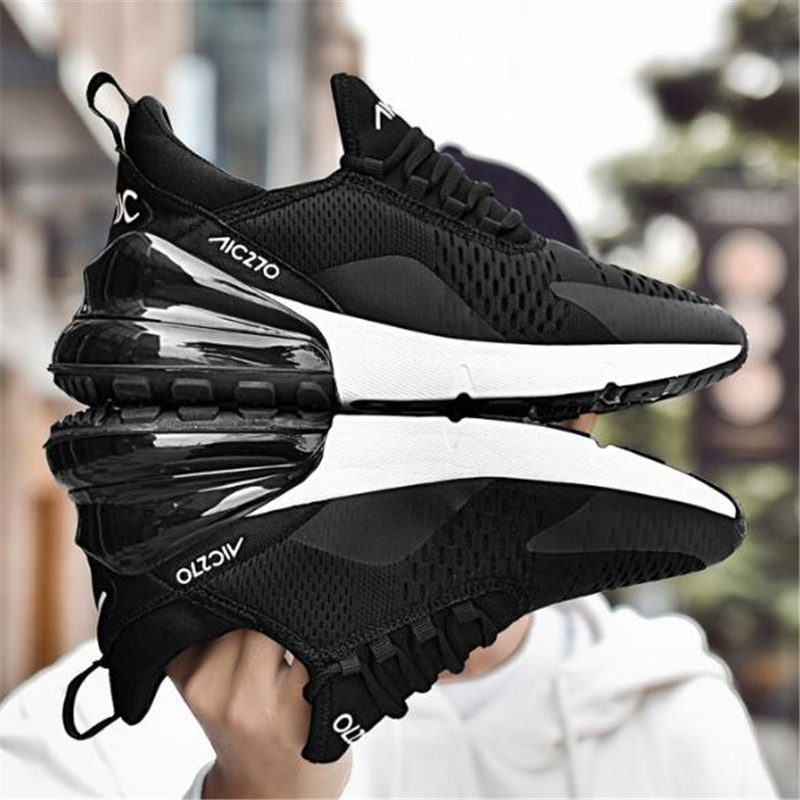 2019 Brand Men Running Shoes Breathable Women Trainer Sneakers Zapatillas Hombre Deportiva 270 Air Cushion Sport Shoes Cheap(China)