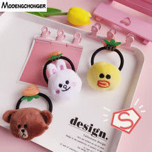 Lovely Cartoon Elastic Hair Band Bear Rabbit Bow Rope  High Elasticity Rubber Ties For Girls Kid Accessories