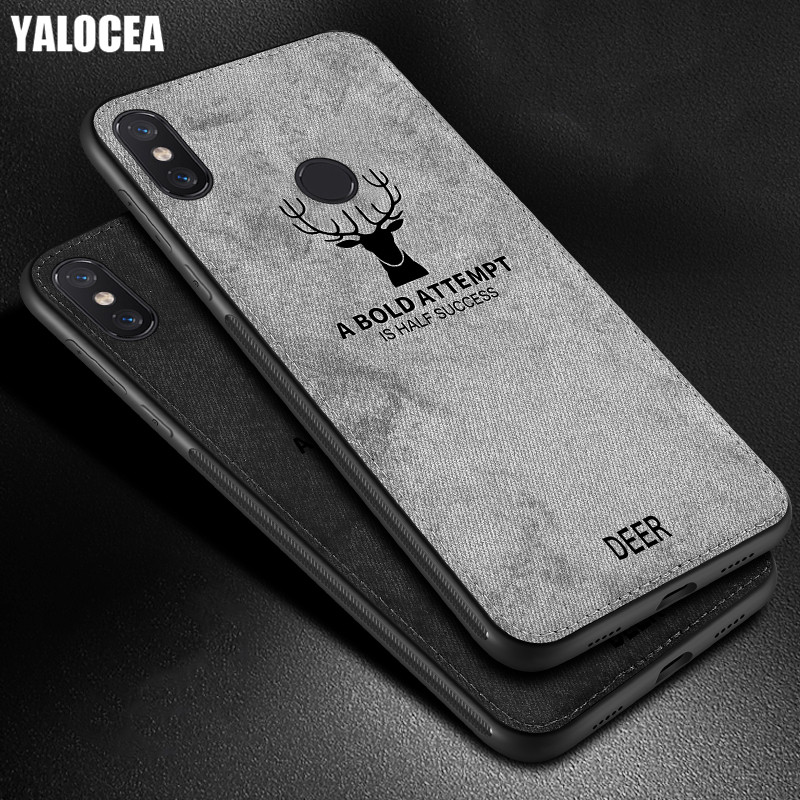 For Xiaomi Redmi Note 6 Pro Case Cover Silicone Fabric Protective Capas Coque For Redmi Note 6 Note6 Pro Deer Cloth Leather Case