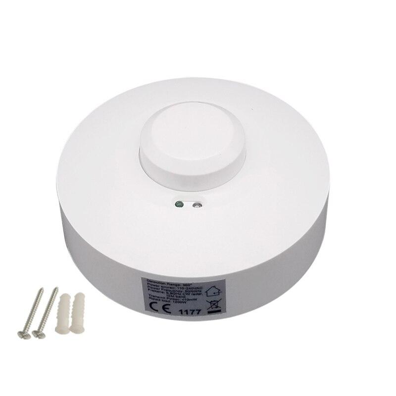 Occupancy capteur pir motion interrupteur de lumière plafond encastré dans le mur ou au micro-ondes