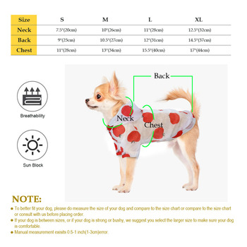 Dog Raincoat Sun-proof Clothing Summer Sun Protection Hoodie Small Dog Clothes Print Poncho For Small Medium Pets Puppy Cat 6