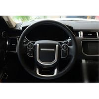Car Chrome ABS Steering Wheel Decoration Strip Trim Decals For Land Rover Range Rover Sport 14 16 Interior Accessories