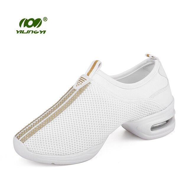 Luz Transpirable Zapatillas de Baile Zapatos de Hip-Hop Jazz Cuadrados de  Malla de Aire 19f6abb1ee0