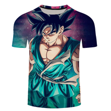 New 2018 animation Cool Goku 3D printed short sleeve Harajuku T-shirt Classic Anime Dragon Ball Z Super Casual t shirt tees tops