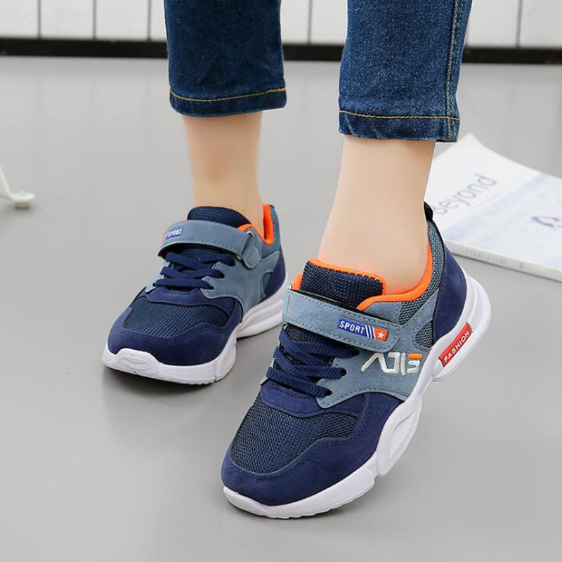 2019 Spring New Children Sports Shoes Boys Breathable Cozy Running Shoes Girls Fashion Soft Sole Sneakers Size 27 To Size 38