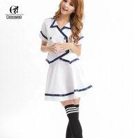 ROLECOS Nowy Styl Biały Japoński Koreański Dorosłych Dziewczyny Mundurek szkolny Krótki Rękaw Sexy Camisa Świeży I Elegancki Design Ubrania