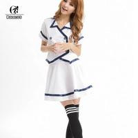 New Style White Japanese Korean Adult Girls School Uniform Short Sleeve Sexy Camisa Free Shipping