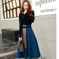Autumn New Pattern Original Edition Dress Woman Fashion Korean Suit Trend Long Sleeve Stitching Twin set Suit dress