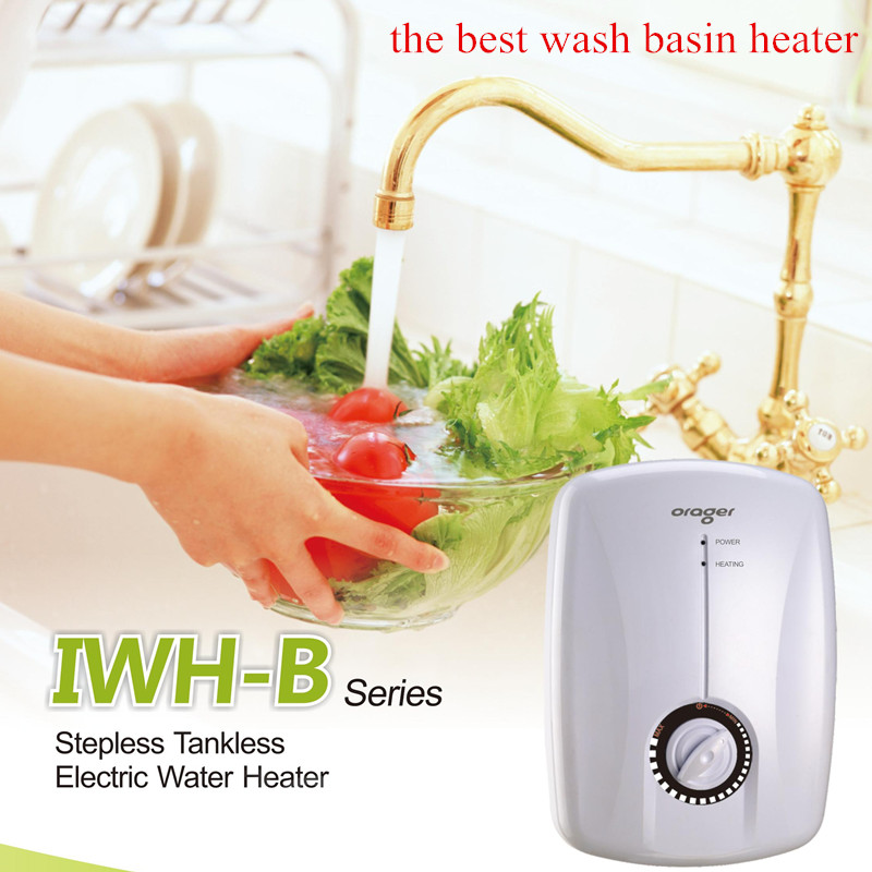 Купить с кэшбэком Water heater Instantaneous Water heater tap bathroom Kitchen Sink Electric 5500W Instant Induction Continuous Hot Water Faucet