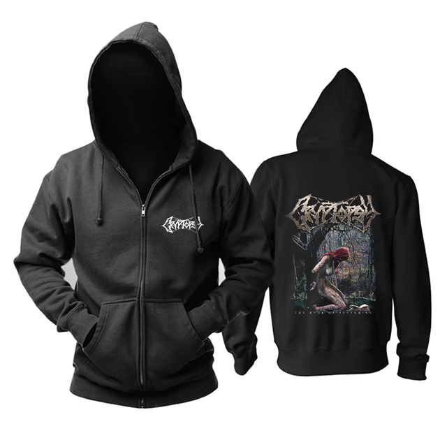 5 designs cryptopsy Rock Brand Nice Soft Warm zipper hoodies Sweatshirt death metal sudadera shell jacket fleece Outerwear