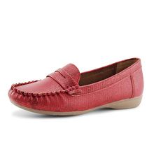 Jabasic Plus Size 35-43 Women Flats shoes 2019 Loafers  Slip on PU Leather Flat Shoes Ballet Comfortable Ladies