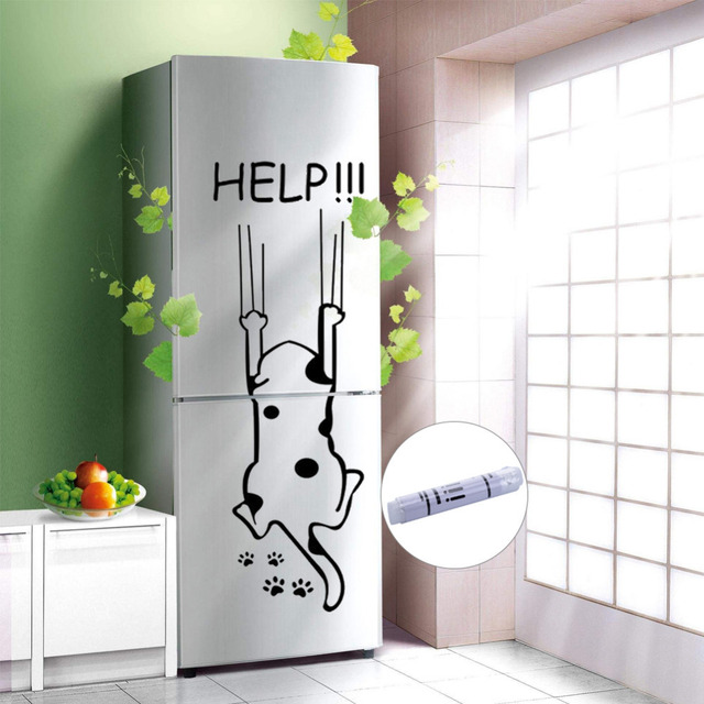 """Help!!!"" Funny Cat Quote DIY Wall Sticker 3"