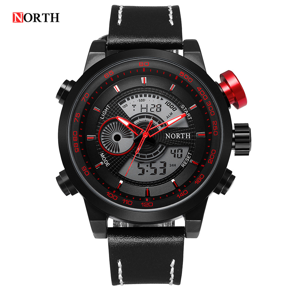 Brand Logo Luxury Series Digital LED Leather Watch Date  Alarm Men's Quartz Army Military Sport Watches clock relogio masculino будильник digital clock touch relogio 15 led alarm clock