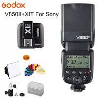 Godox V850II V850 II Flash Built in 2.4G Supports Master/Slave Li ion Battery GN60 Speed Light +X1T S for Sony+Camera Speedlite