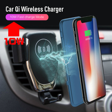 10W QI Wireless Car Charger Automatic Gravity Air Vent Car Phone Holder Stand for iPhone 8 Plus X XS Max XR Samsung S9 S8 S7