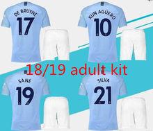 75c2aa4b1 2019 Manchester city kit shirt STERLING G. JESUS KUN AGUERO DE BRUYNE  KOMPANY SANE 18