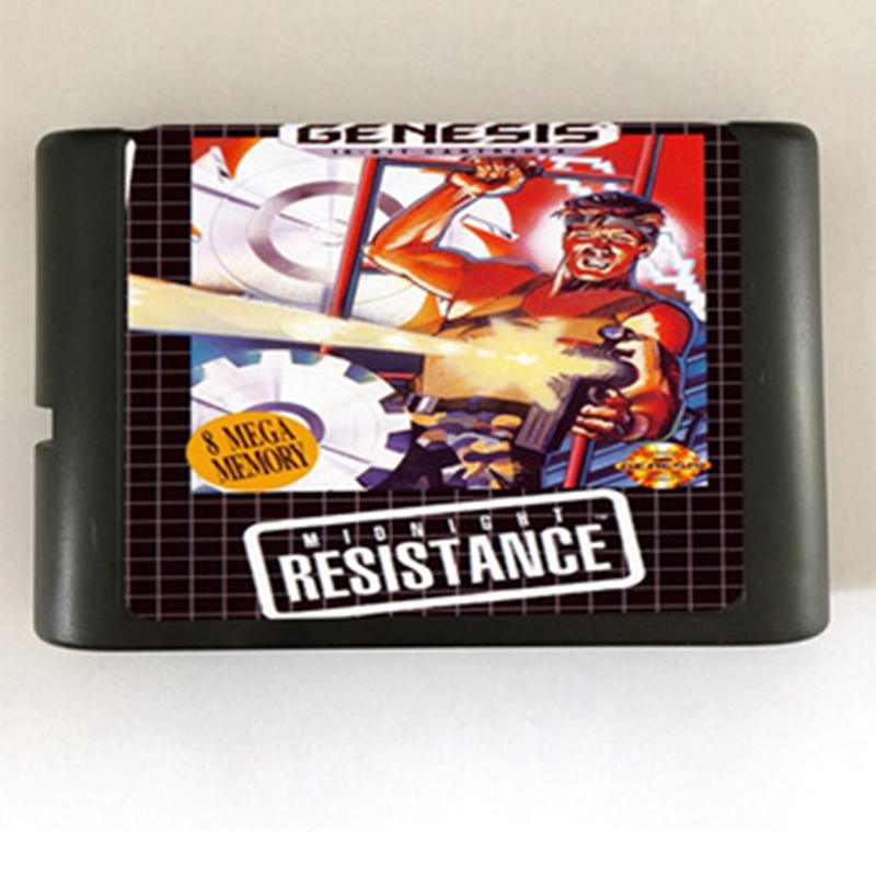 Contra 3 Midnight Resistance Game Cartridge Newest 16 bit Game Card For Sega Mega Drive / Genesis System