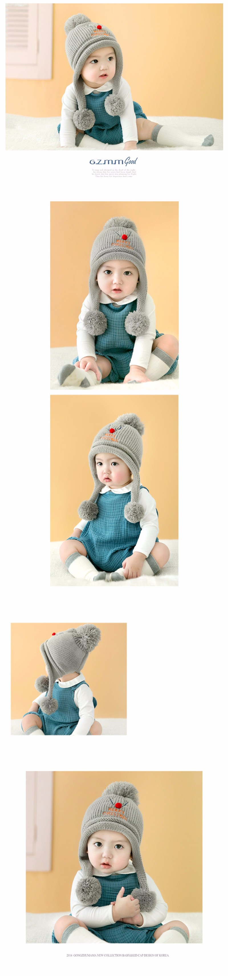 Accessories Fashion Knitted Baby Hat Winter Autumn Lace Up Baby Bonnet For 6-24 Months Girls Boys Warm Cap Street Price Hats & Caps