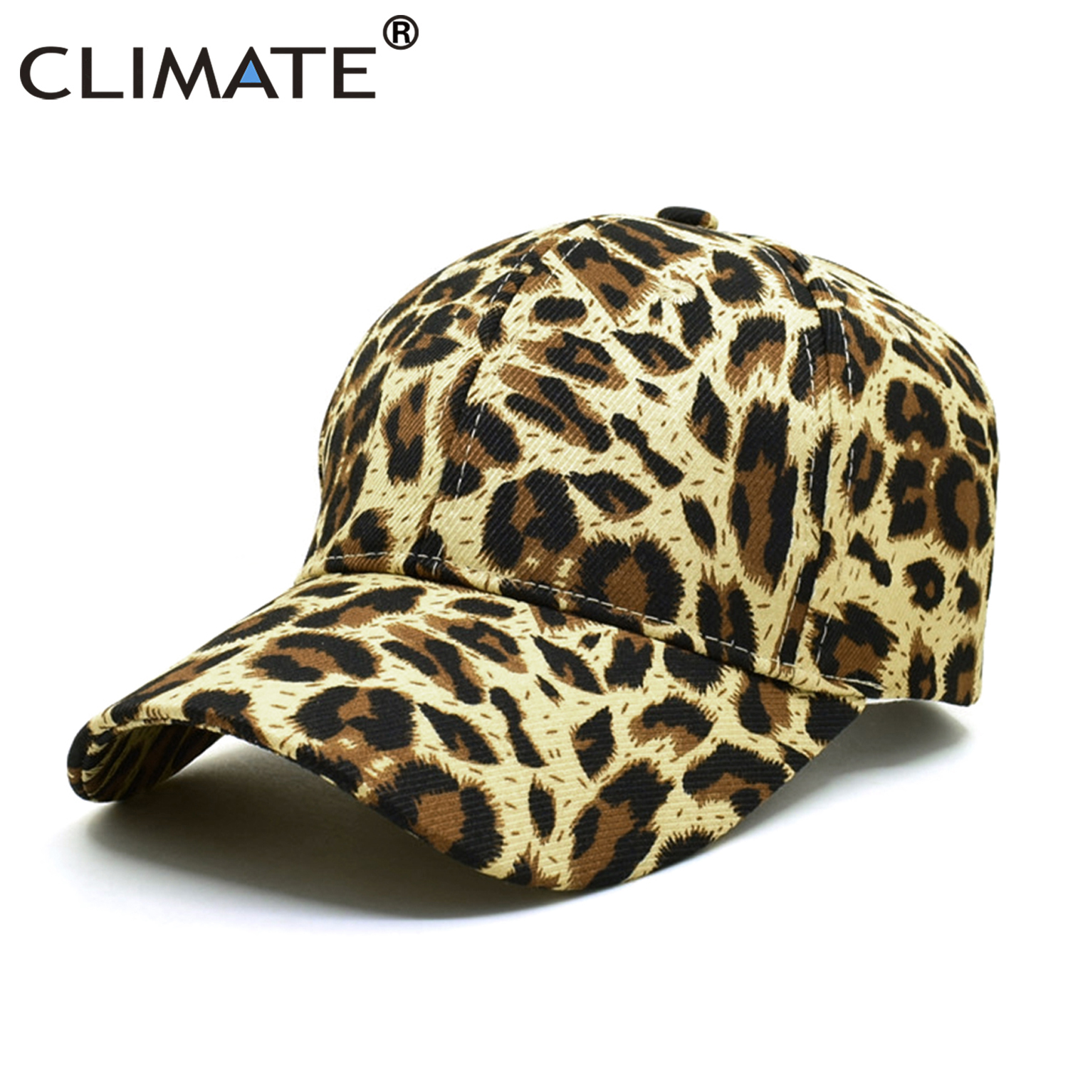 CLIMATE Fashion Leopard <font><b>Cap</b></font> Hat Women Woman New Fashion <font><b>Caps</b></font> Leopard Print Baseball <font><b>Caps</b></font> <font><b>Sexy</b></font> Hat <font><b>Cap</b></font> for Woman Girls Party image